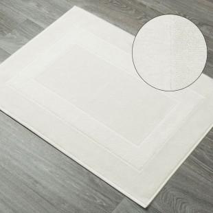 Krémový bavlnený kúpeľňový koberček