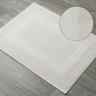 Béžový kúpeľňový bavlnený koberček
