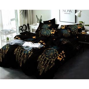 Čierne posteľná obliečka z mikrovlákna s lapačmi snov