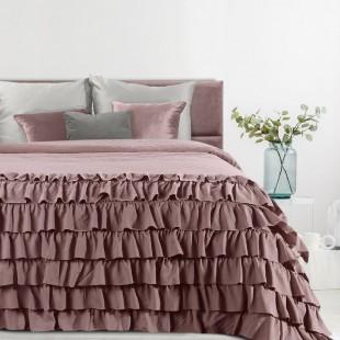 Ružový mäkký prehoz na posteľ
