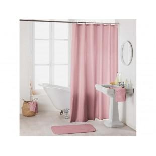 Ružový kúpeľňový  záves na náčiky