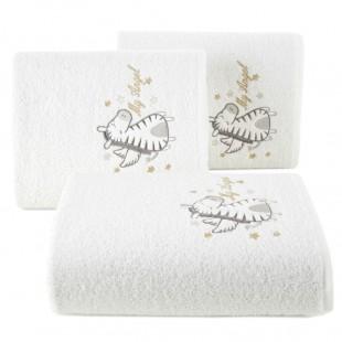 Biely detský bavlnený ručník so zebrou