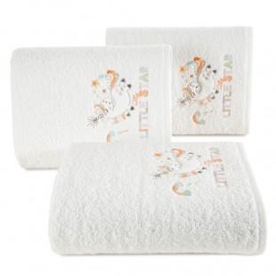 Biely detský bavlnený ručník s jednorožcom