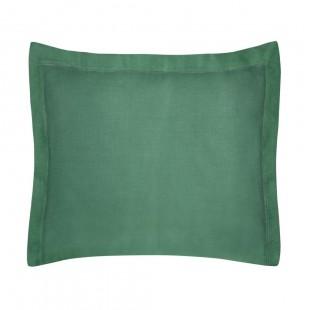 Zelená obliečka na dekoračný vankúš zo saténovej bavlny