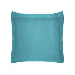Modrá obliečka na dekoračný vankúš zo saténovej bavlny