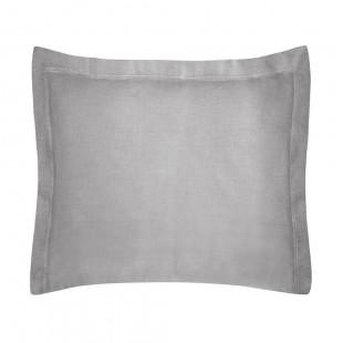 Sivá obliečka na dekoračný vankúš zo saténovej bavlny