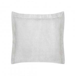 Svetlosivá obliečka na dekoračný vankúš zo saténovej bavlny