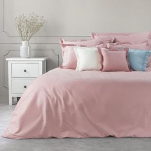 Ružový dekoračný prehoz na posteľ zo saténovej bavlny