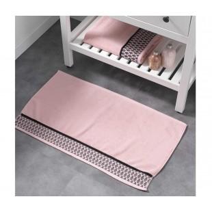 Ružový bavlnený koberček so vzorom