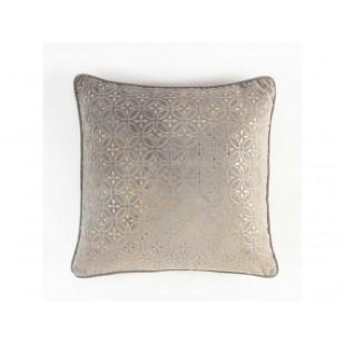 Obliečka na vankúš vzorovaná sivo-zlatá