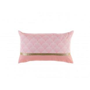 Ružová vzorovaná obliečka s vankúšom