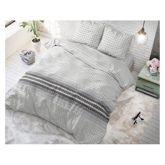 Sivé vzorované posteľné obliečky do spálne