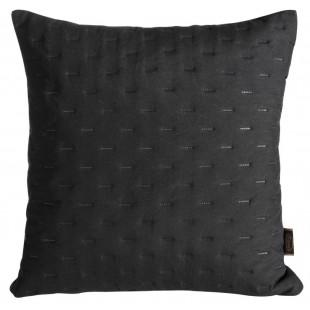 Čierna obliečka na dekoračný vankúš s prešívaním