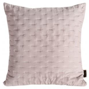 Púdrovo-ružová obliečka na dekoračný vankúš s prešívaním