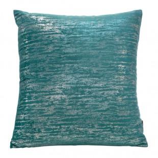 Tyrkysovo-strieborná obliečka na dekoračný vankúš
