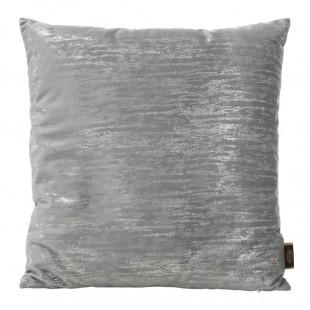 Sivo-strieborná obliečka na dekoračný vankúš