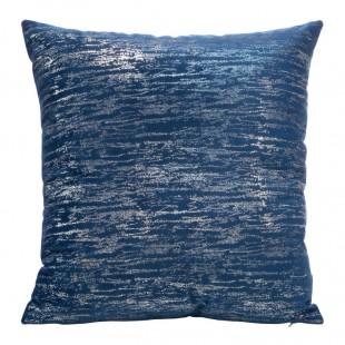 Modro-strieborná obliečka na dekoračný vankúš