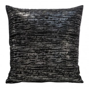 Čierno-strieborná obliečka na dekoračný vankúš