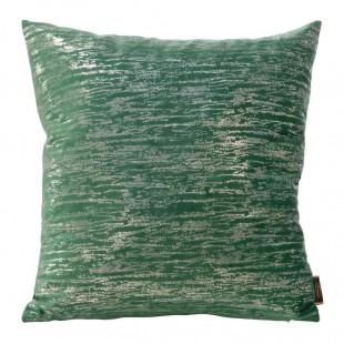 Zeleno-strieborná obliečka na dekoračný vankúš