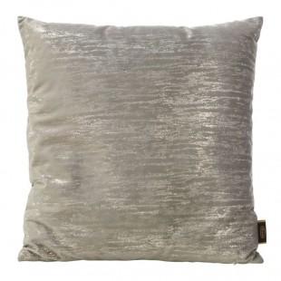 Béžovo-strieborná obliečka na dekoračný vankúš