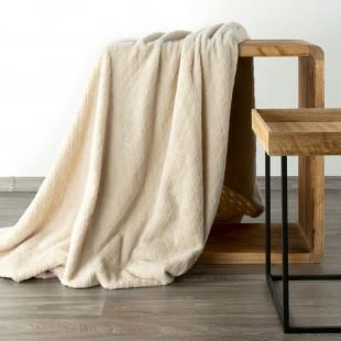 Béžová mäkká vzorovaná deka