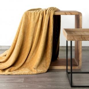 Mäkká vzorovaná deka v medovej farbe