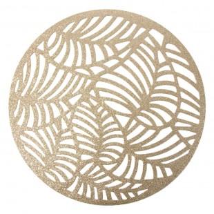 Zlaté kruhové prestieranie na stôl
