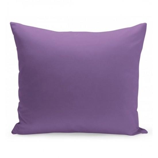 Jednofarebná obliečka na vankúš tmavofialovej farby