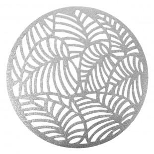 Strieborné kruhové pretieranie na stôl