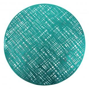 Tyrskysové kruhové prestieranie na stôl