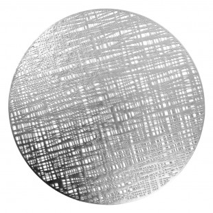 Strieborné kruhové prestieranie na stôl