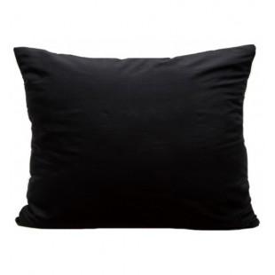 Čierna jednofarebná obliečka z mikrovlákna na vankúšik