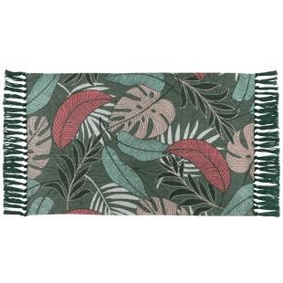Elegantný bavlnený koberček s rastlinným motívom