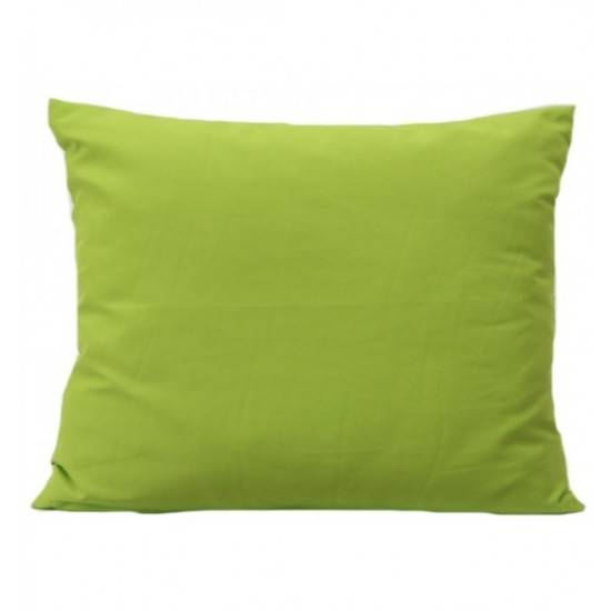 Zelená obliečka z mikrovlákna na vankúš
