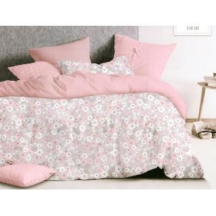 Ružová kvetinová obliečka zo saténovej bavlny