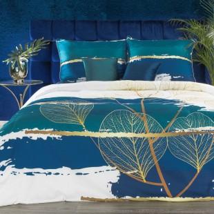 Exkluzívne posteľné obliečky zo saténovej bavlny s rastlinným vzorom