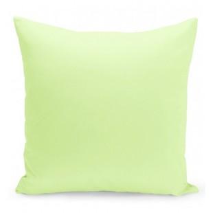 Jednofarebná obliečka na vankúš v svetlomentolovej farbe