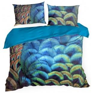 Exkluzívna modrá posteľna obliečka zo saténovej bavlny
