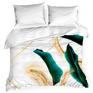 Biela exkluzívna posteľná obliečka zo saténovej bavlny