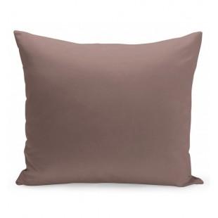Jednofarebná návliečka na vankúš vo fialovo kakaovej farbe