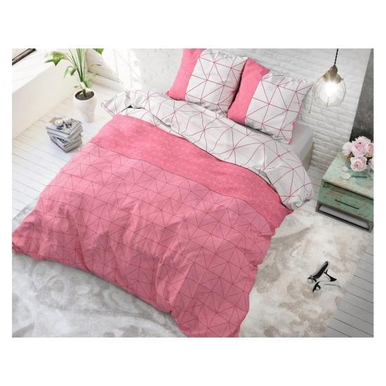 Moderné ružové posteľné obliečky so vzormi