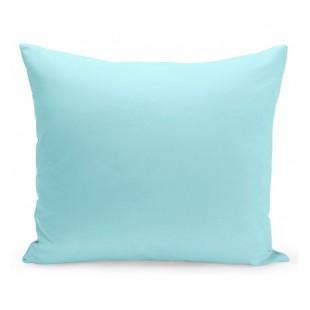 Modrá jednofarebná obliečka z mikrovlákna na vankúš