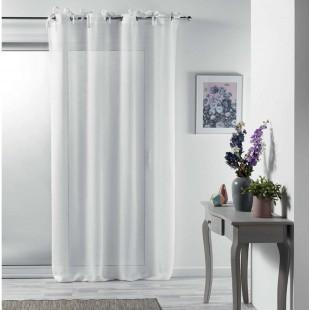 Biela elegantná záclona na kruhy s mašličkami
