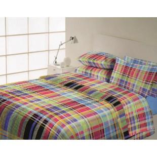 Farebná bavlnená posteľná obliečka