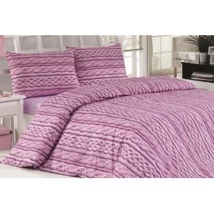 Ružová posteľná obliečka zo saténovej bavlny