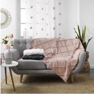 Staroružová bavlnená deka s jemným zdobením
