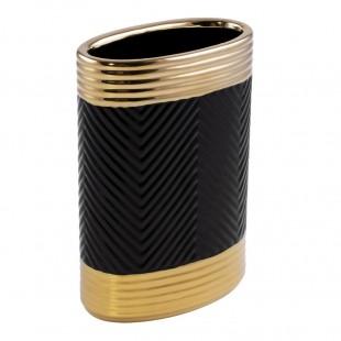 Čierno-zlatá dekoračná váza