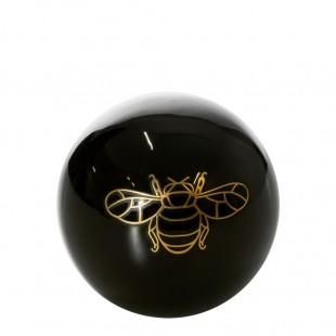Čierno-zlatá dekoračná guľa s motívom včely