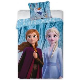 Modrá bavlnená posteľná obliečka pre deti Frozen