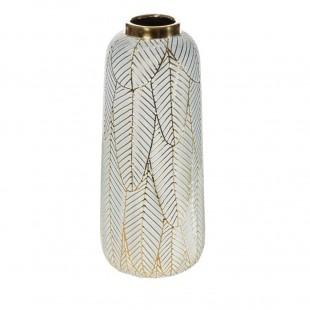 Bielo-zlatá dekoračná váza